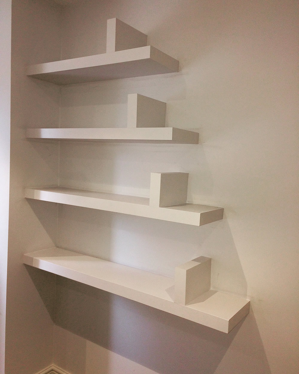 Floating Shelves With Book Ends By Adam J Whittle